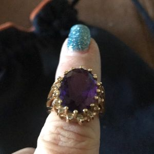 Jewelry - Amethyst Ring with 14 k setting